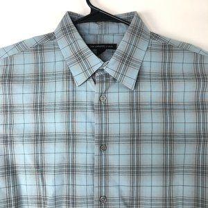 John Varvatos Mens Large Button Front Long Sleeve